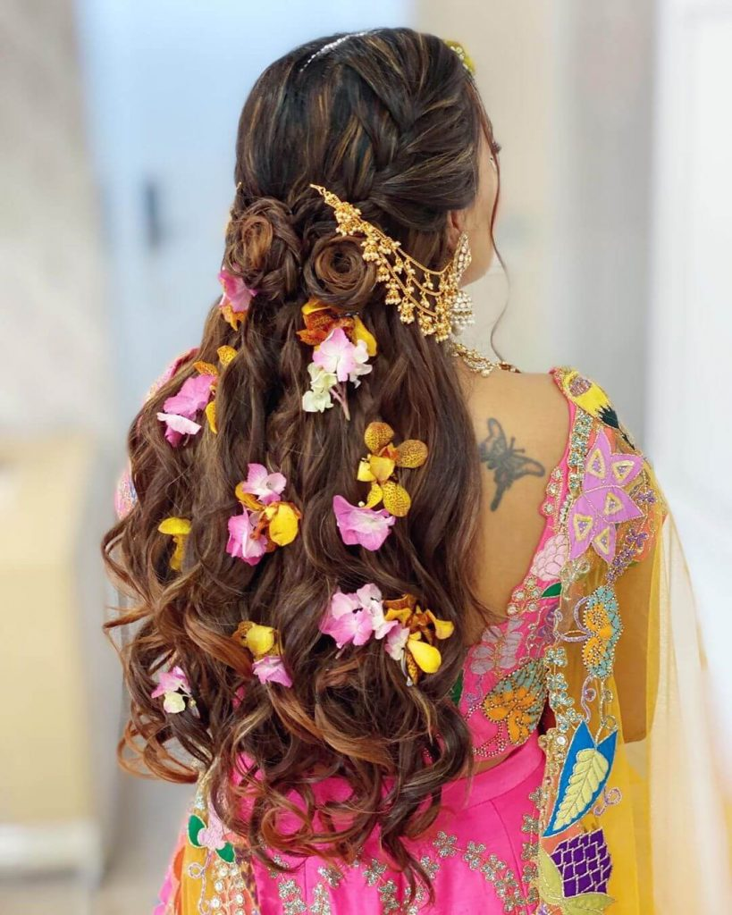 Floral Bridal Hairstyles,wedding trends for brides