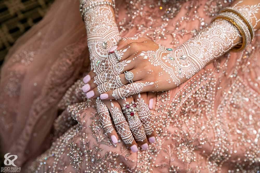 White Bridal Mehendi