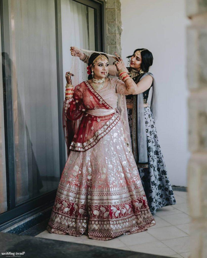double dupatta for brides