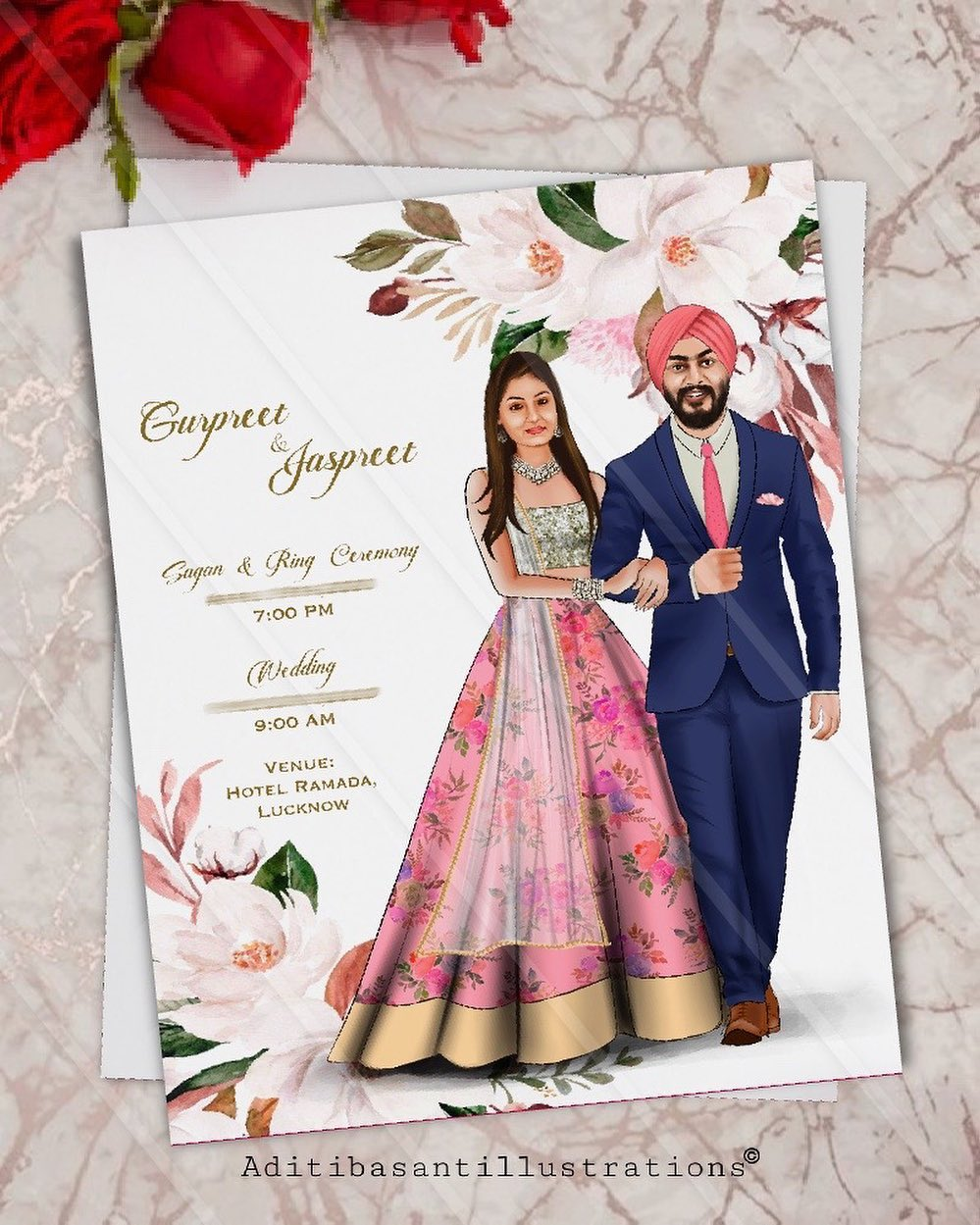 unique wedding card designs for that perfect first impression