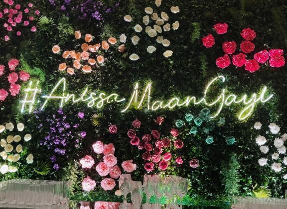 wedding decor, wedding hashtag