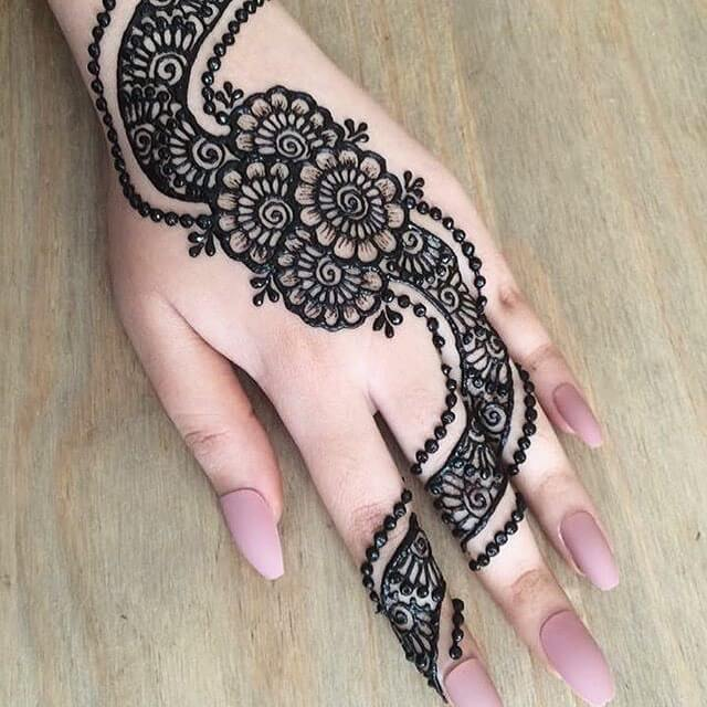 trail mehendi design