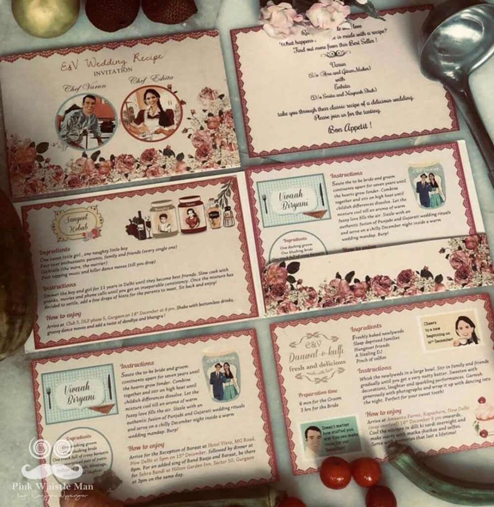 Cooking Themed Wedding Card
