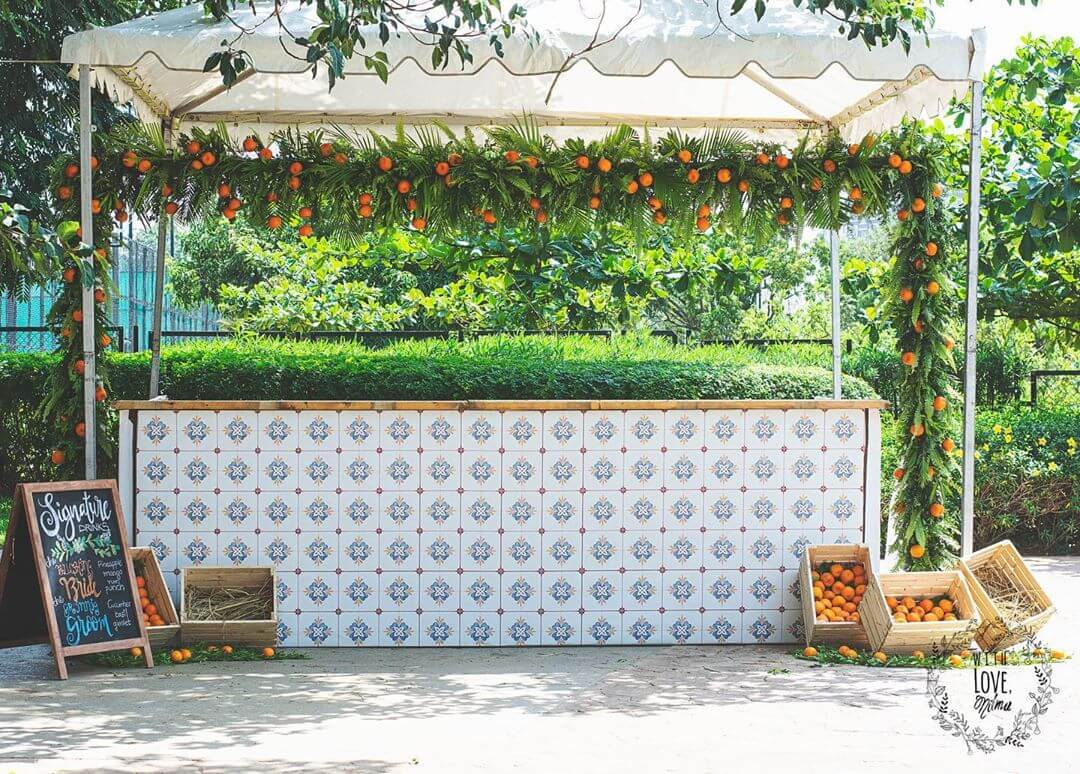 bar decor ideas, summer weddings