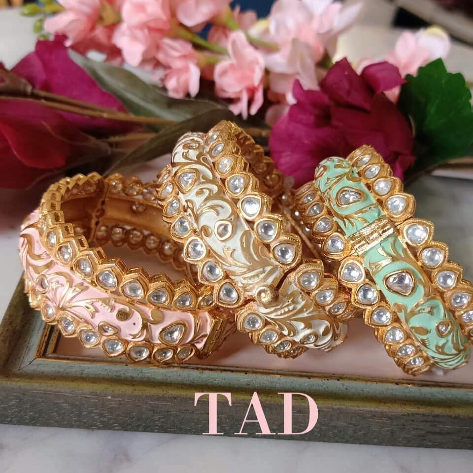 Meenakari Bangles And Kada Designs
