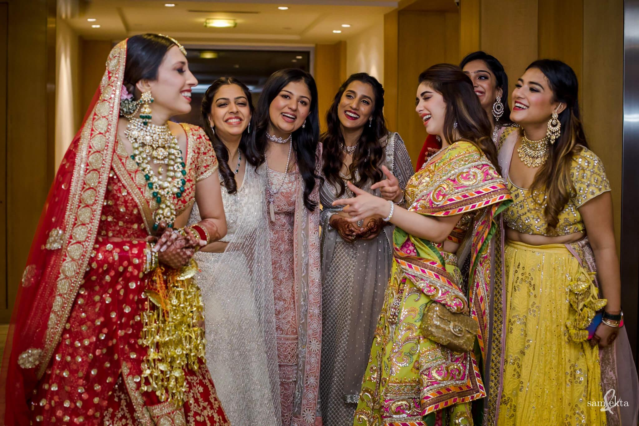 bridesmaids, Armaan Jain And Anissa Malhotra's Wedding