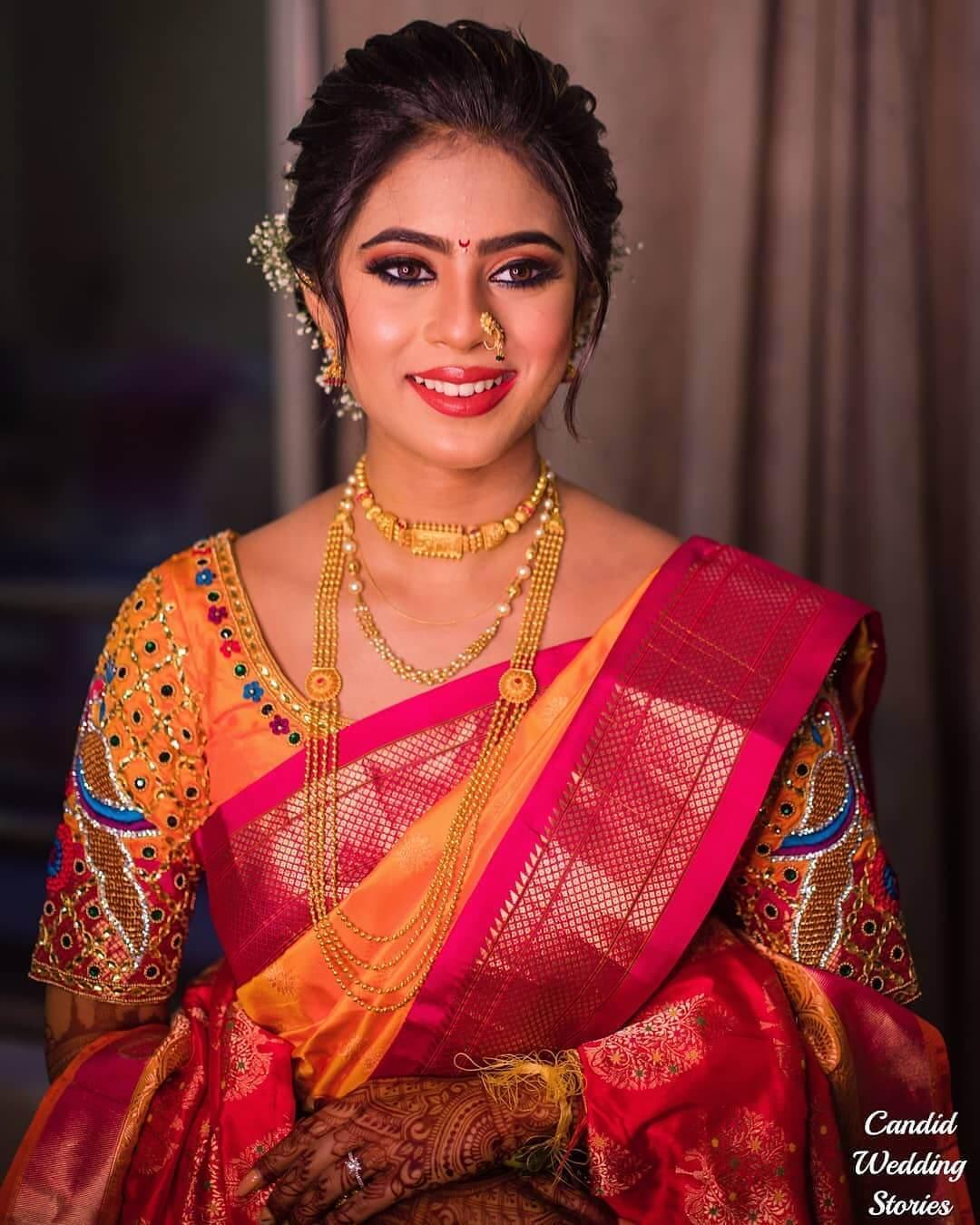marathi bridal look