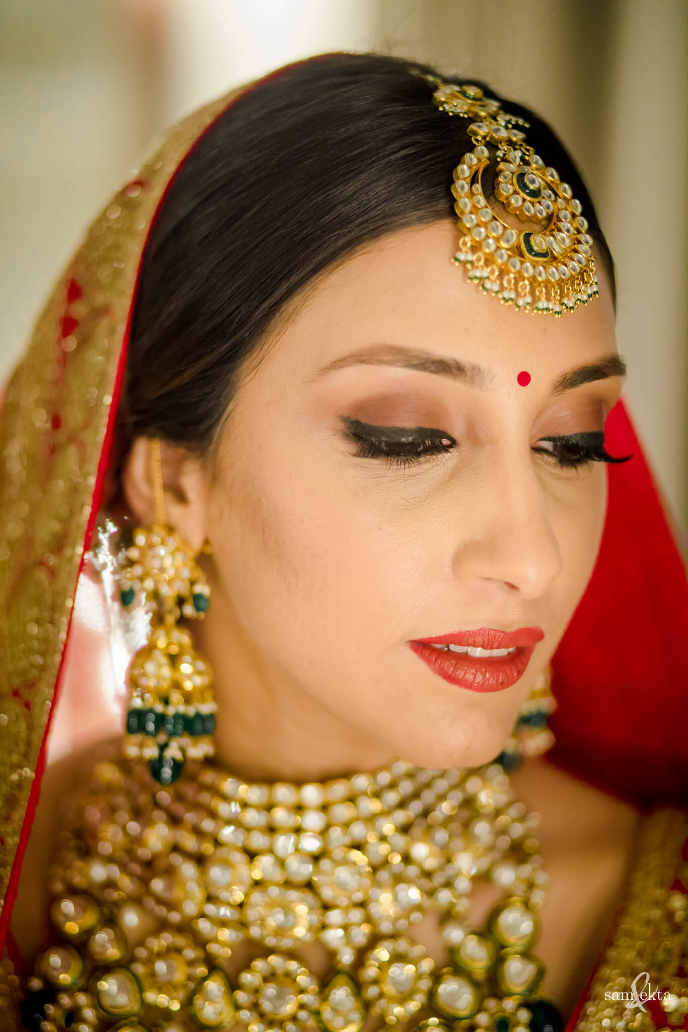 bridal makeup, Armaan Jain And Anissa Malhotra's Wedding
