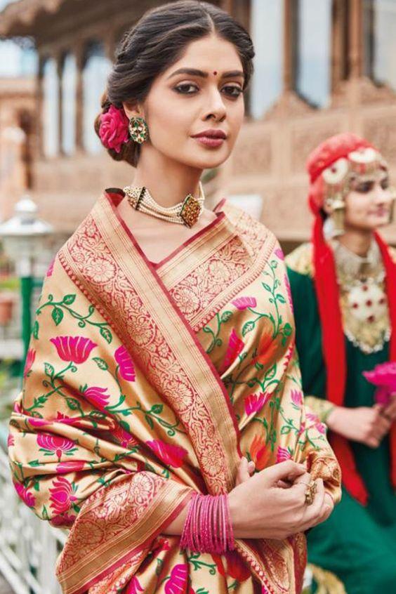 Maharashtrian Paithani Saree