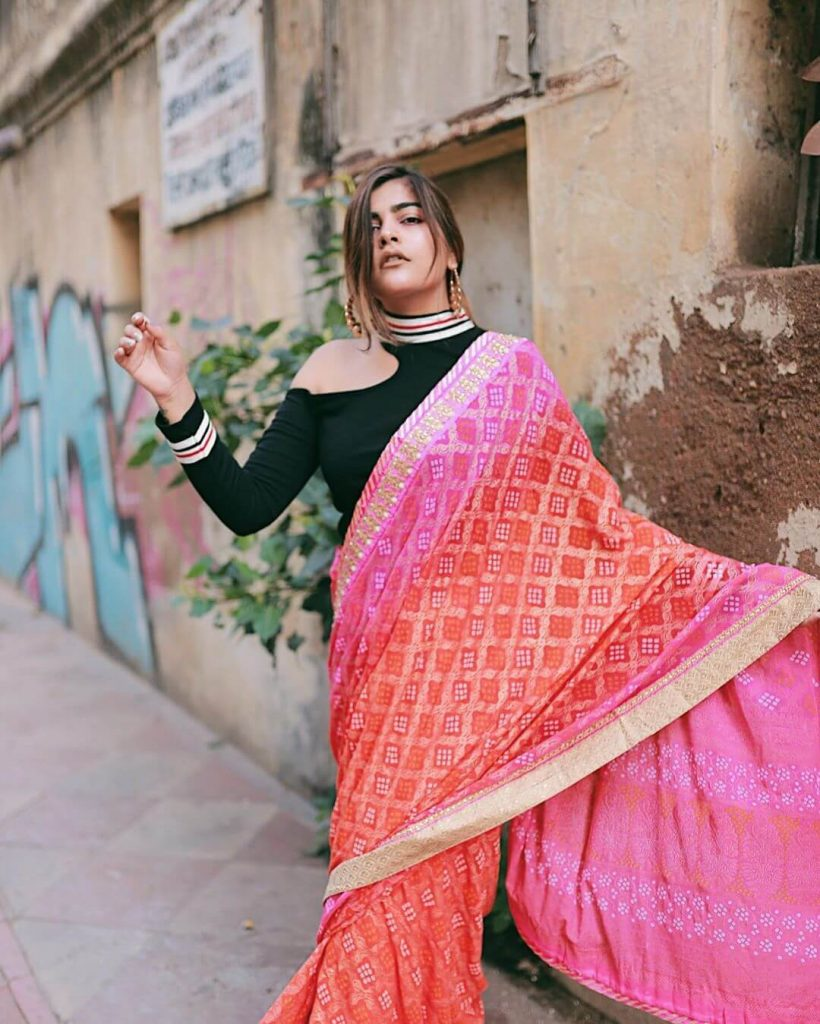 offbeat saree draping ideas