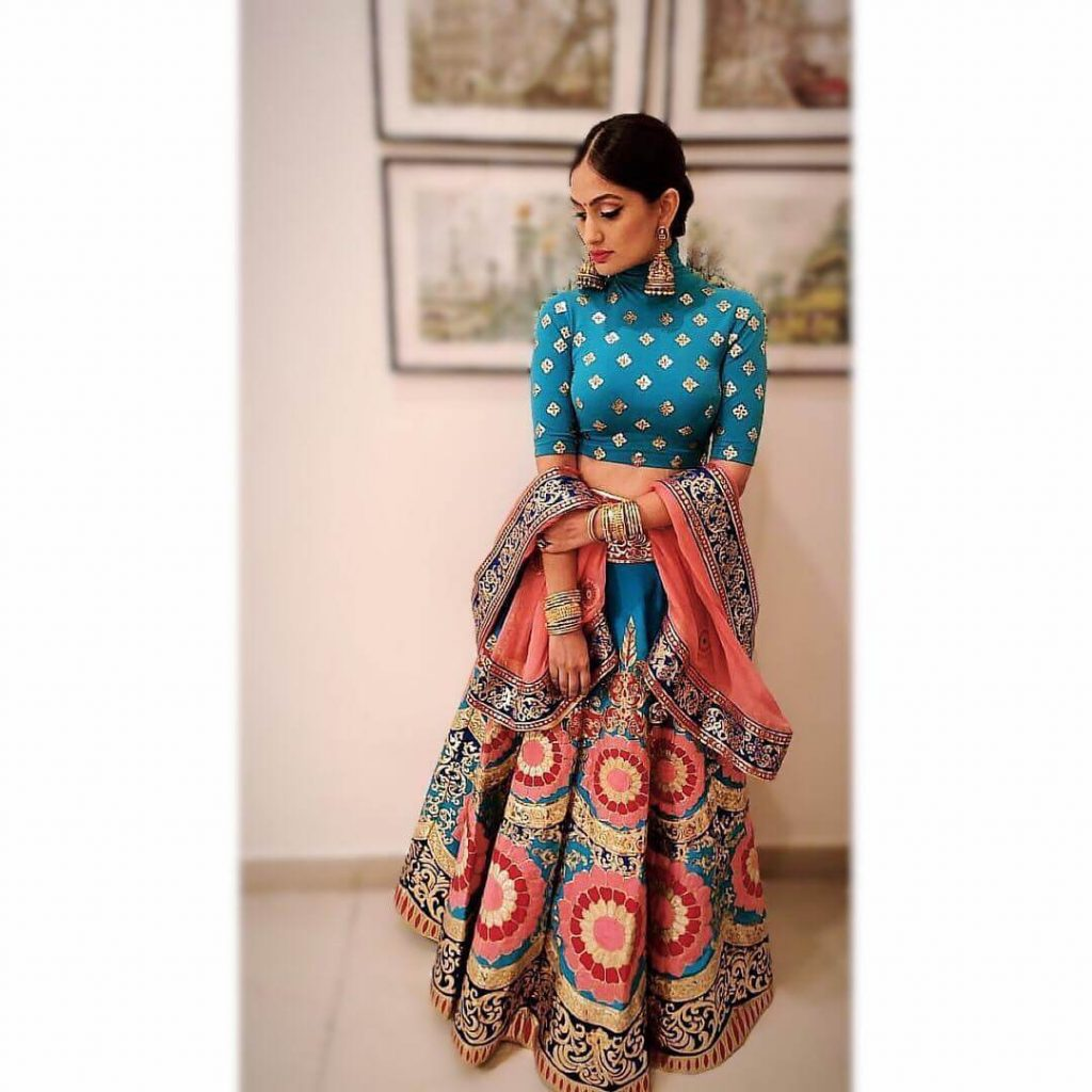 multicoloured bridal skirt