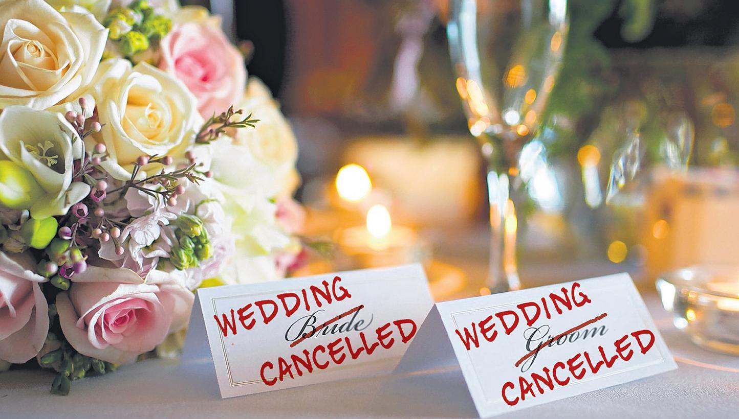wedding cancelled