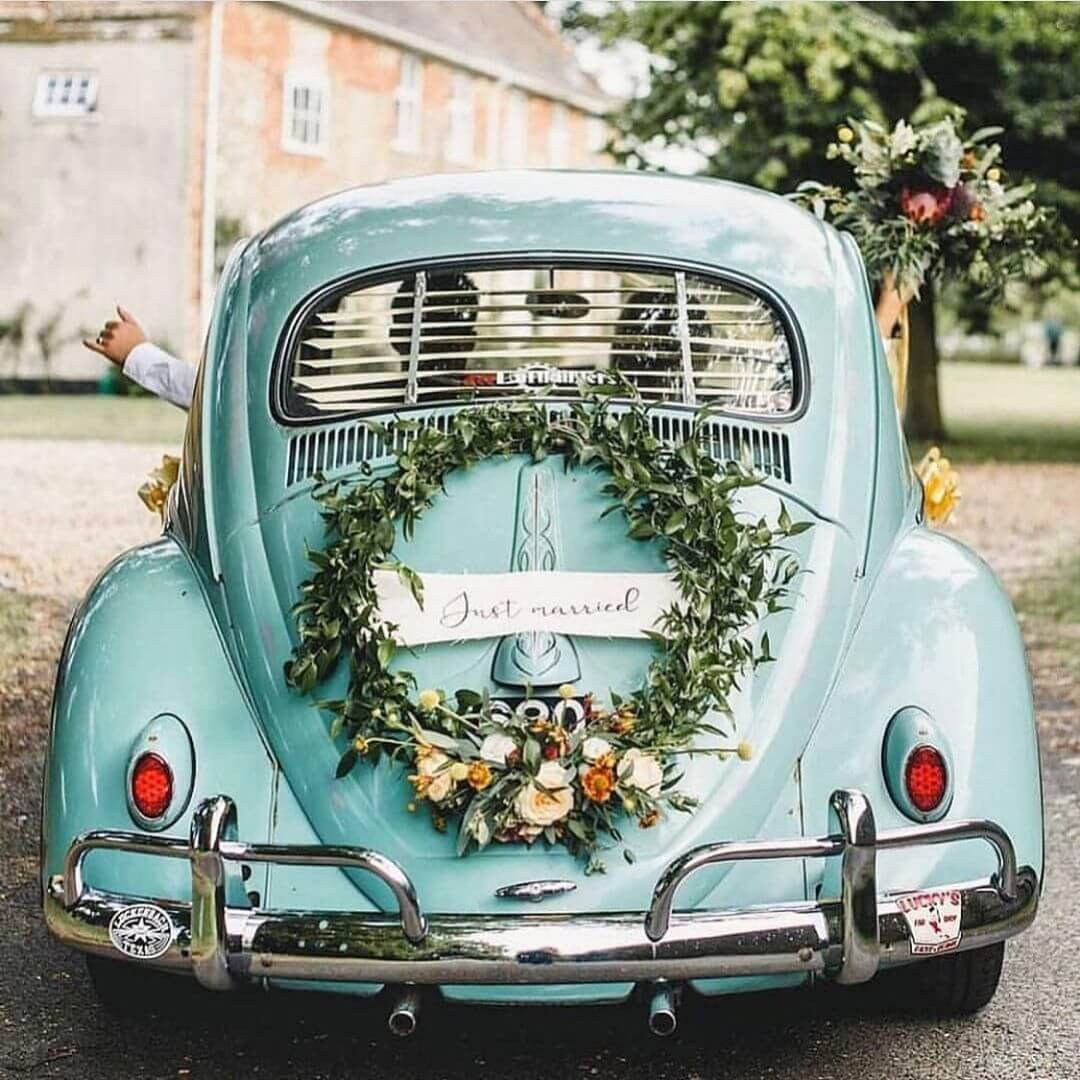 just married car decor