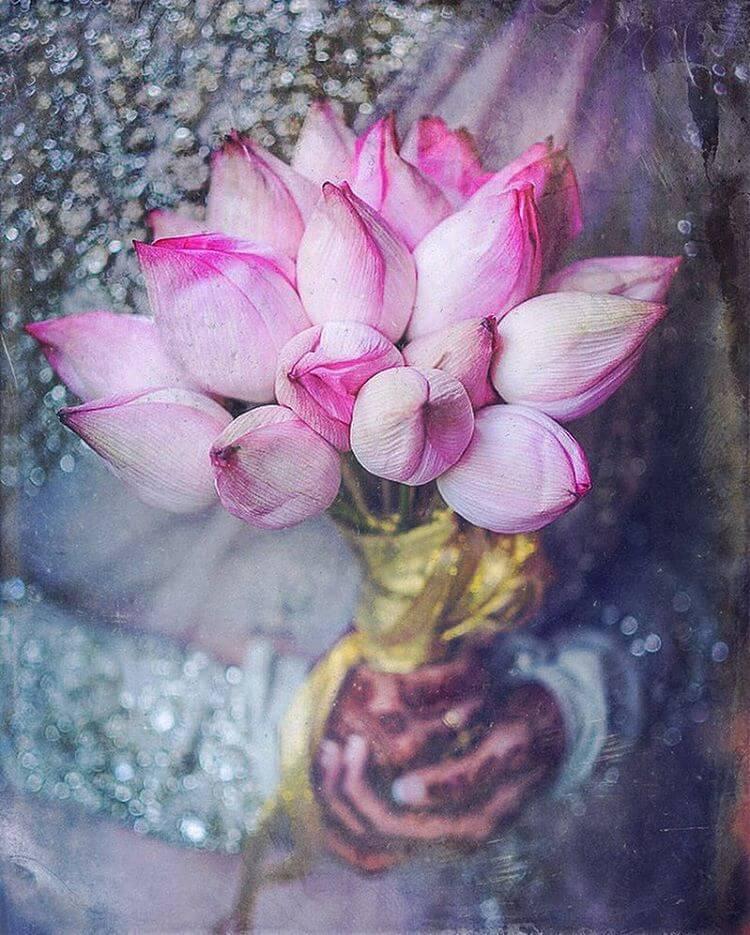 lotus bridal bouquet