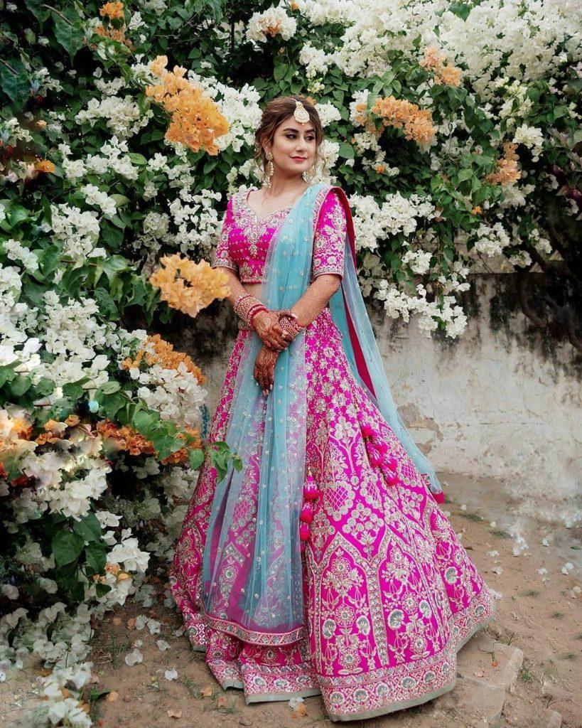 rani pink bridal outfits