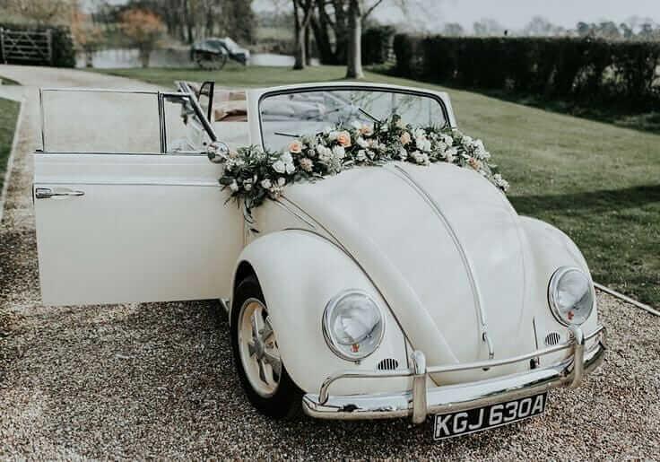 simple wedding car decor