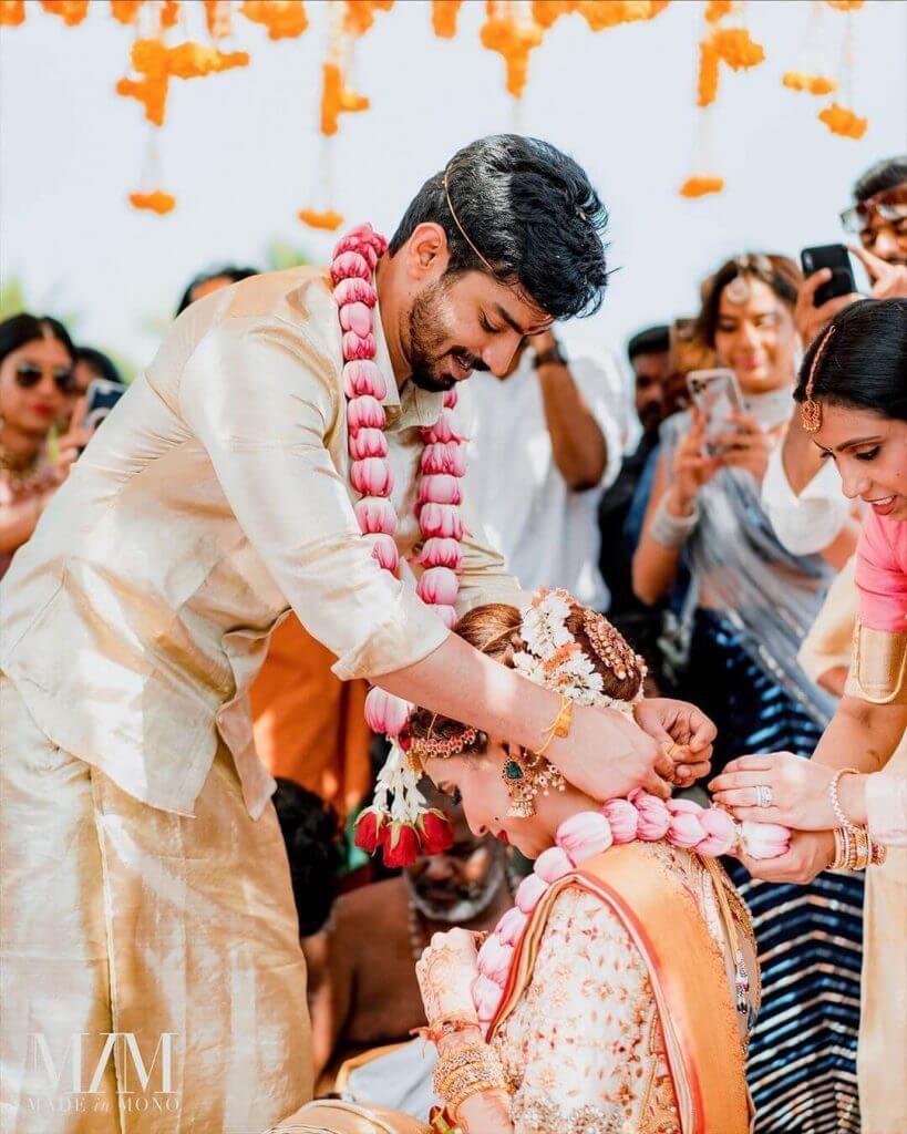 south indian wedding attire
