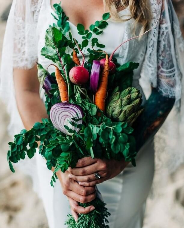 vegan wedding bouquet