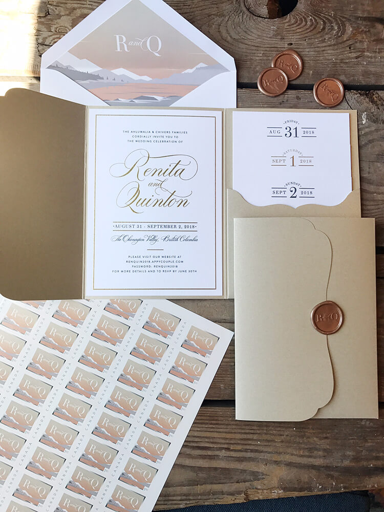 unboxed wedding invitations