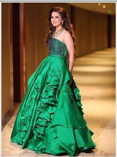 designer reception gown