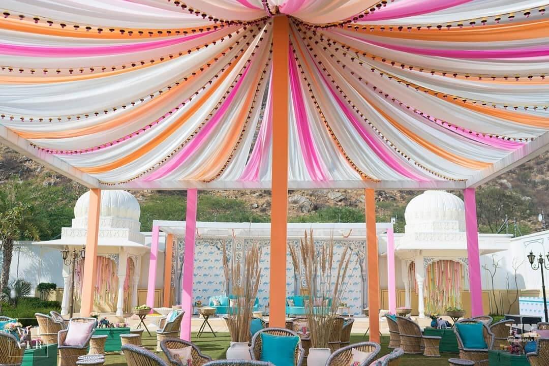 tent decor ideas, monsoon wedding ideas