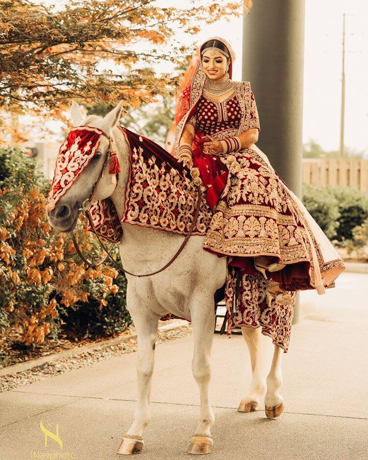 bridal entry on horse