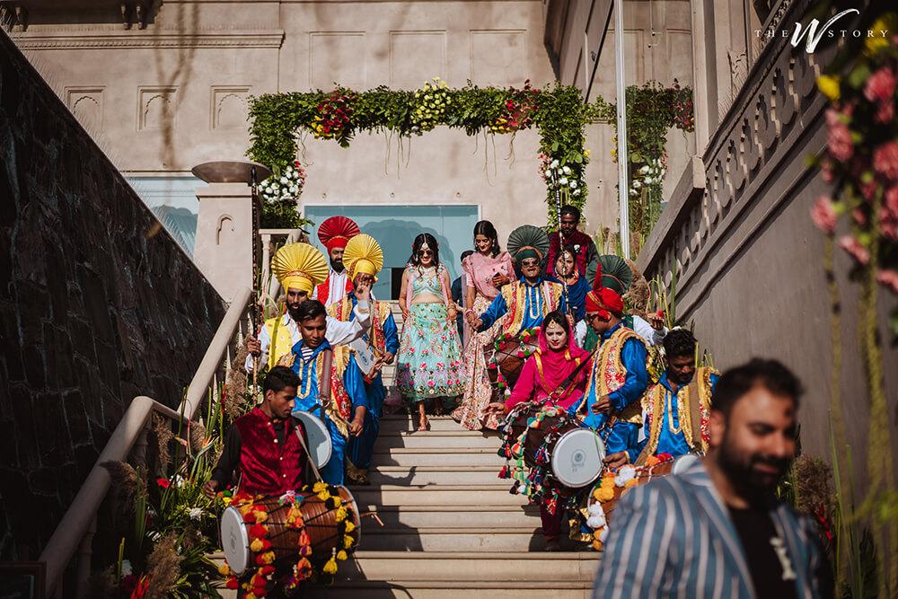 bridal entry on dhol