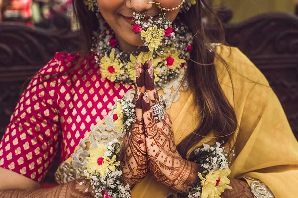 bridal floral jewellery ideas
