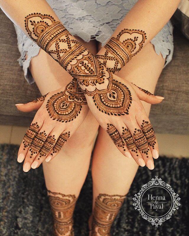 Back Hand Mehendi Designs