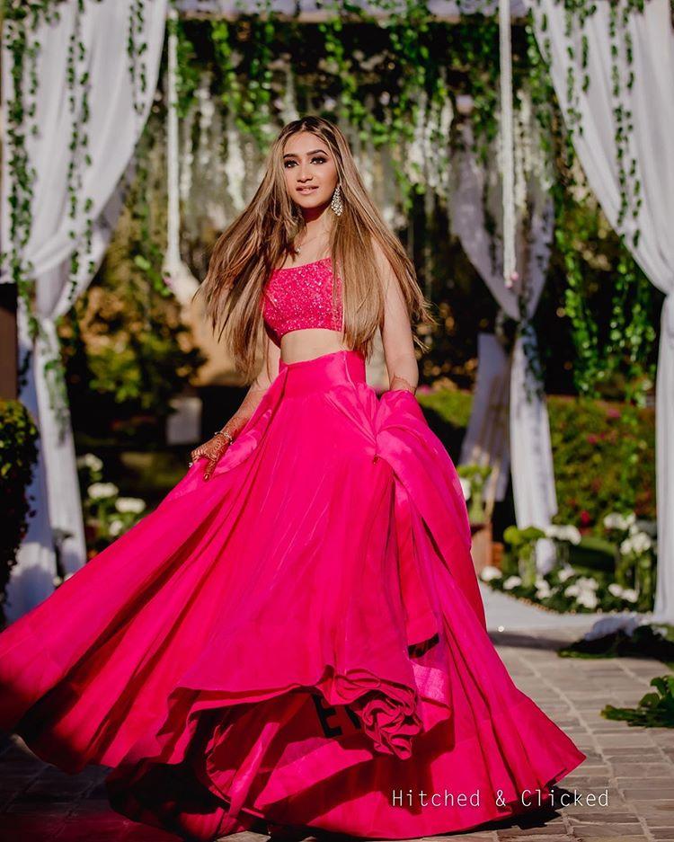 pink lehenga