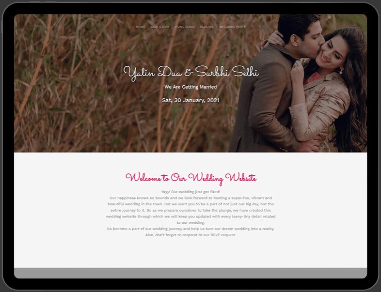 e-wedding invitation