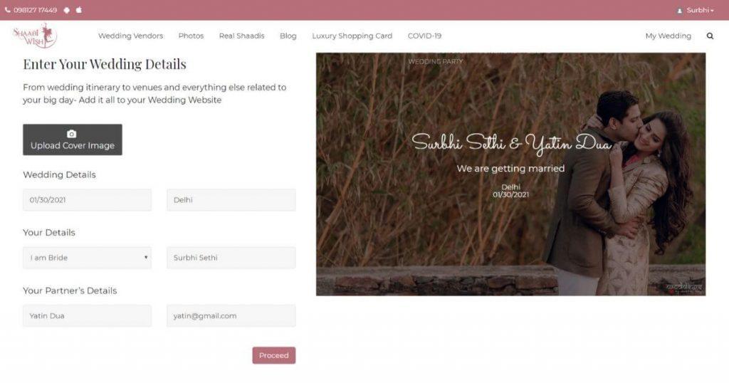 wedding website ideas