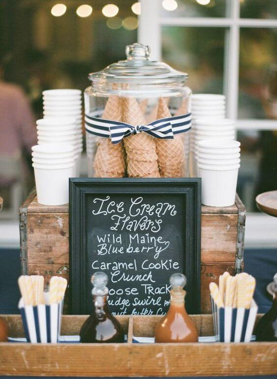 ice cream counter at weddings