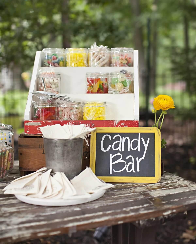 candy bar at weddings