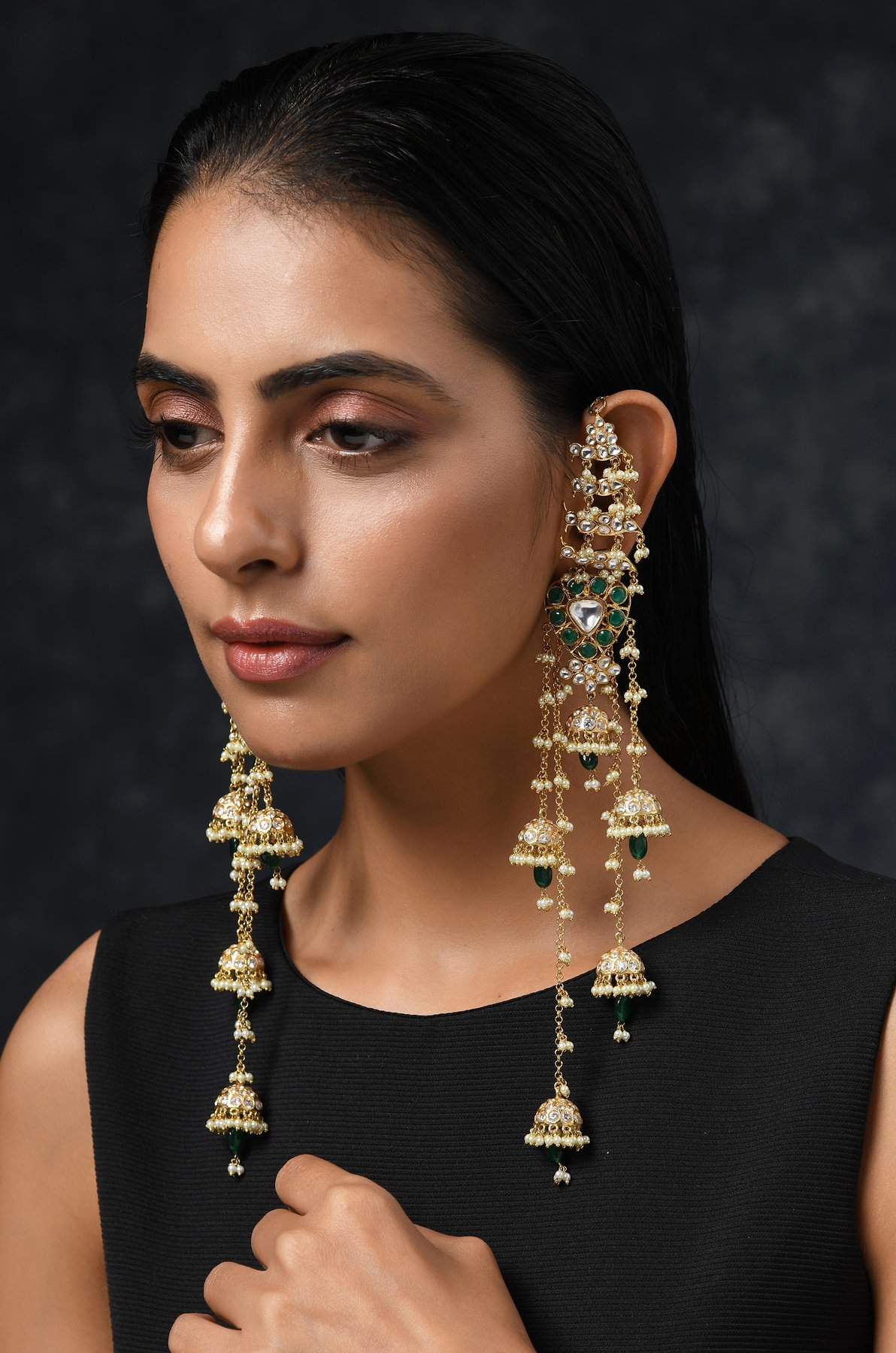 kundan jadau earrings