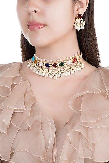 choker necklace set for brides