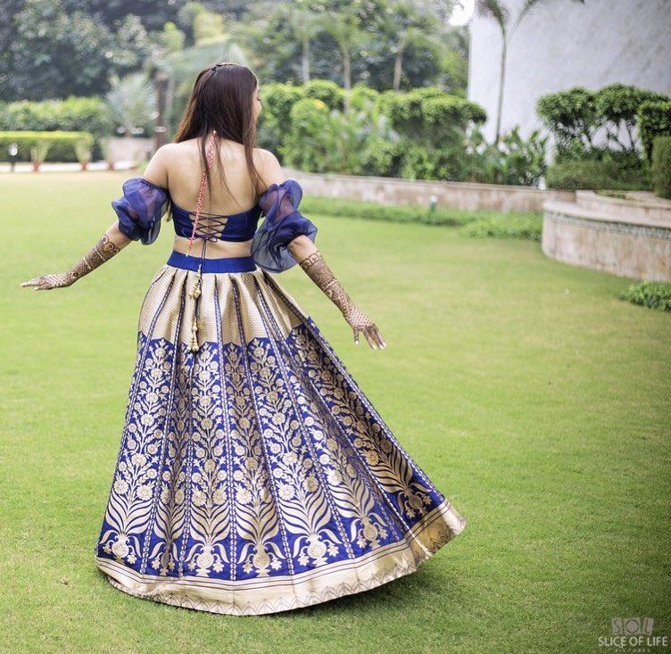 banarasi lehenga, intimate wedding look