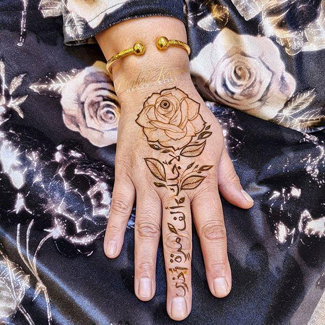 rose flower mehendi design