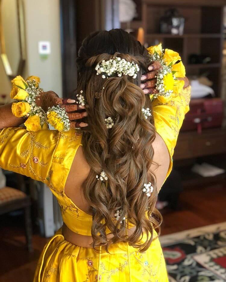 floral bridal hairstyles