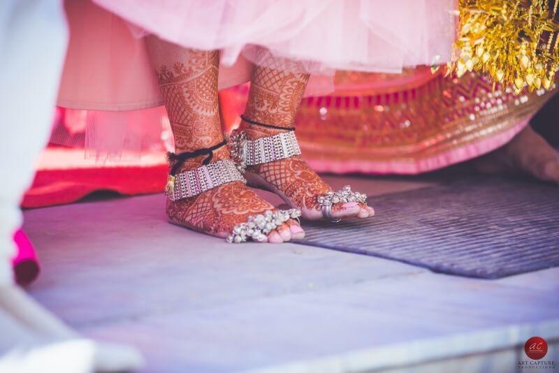 bridal feet jewellery