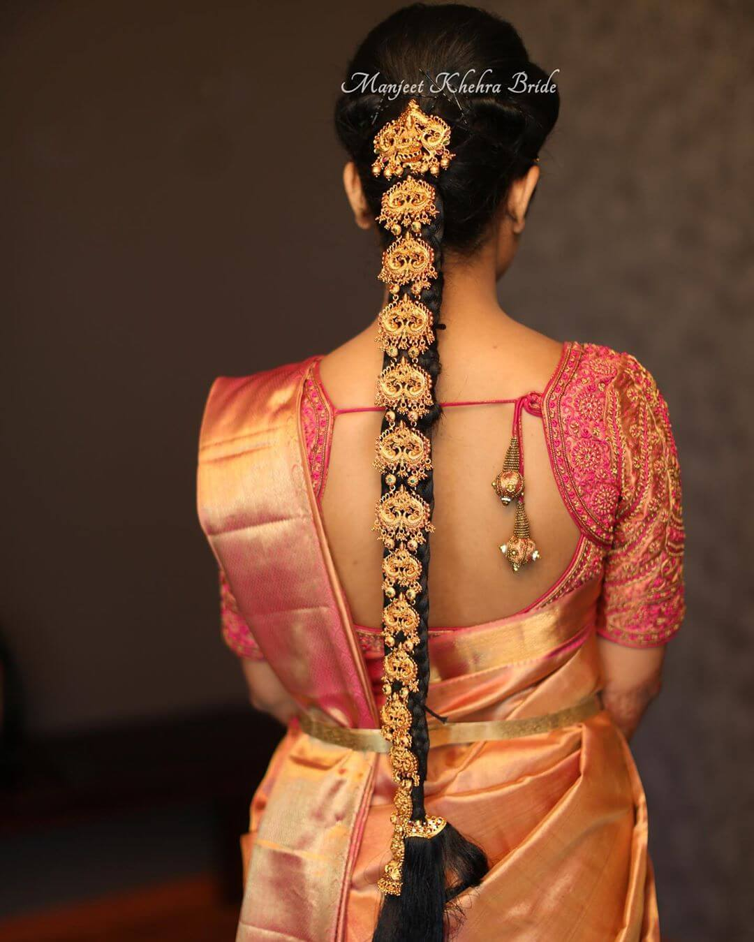 south Indian hair jewellery