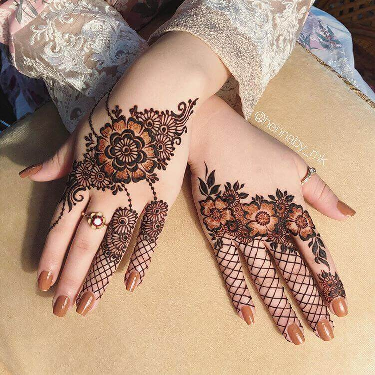 bridal half mehendi designs