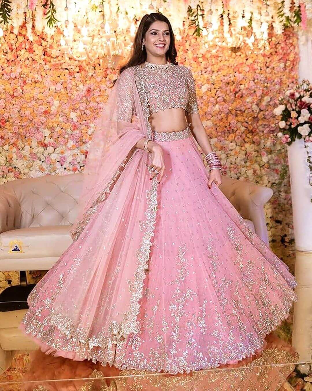 30 Different Shades Of Pink Wedding Lehengas We Loved