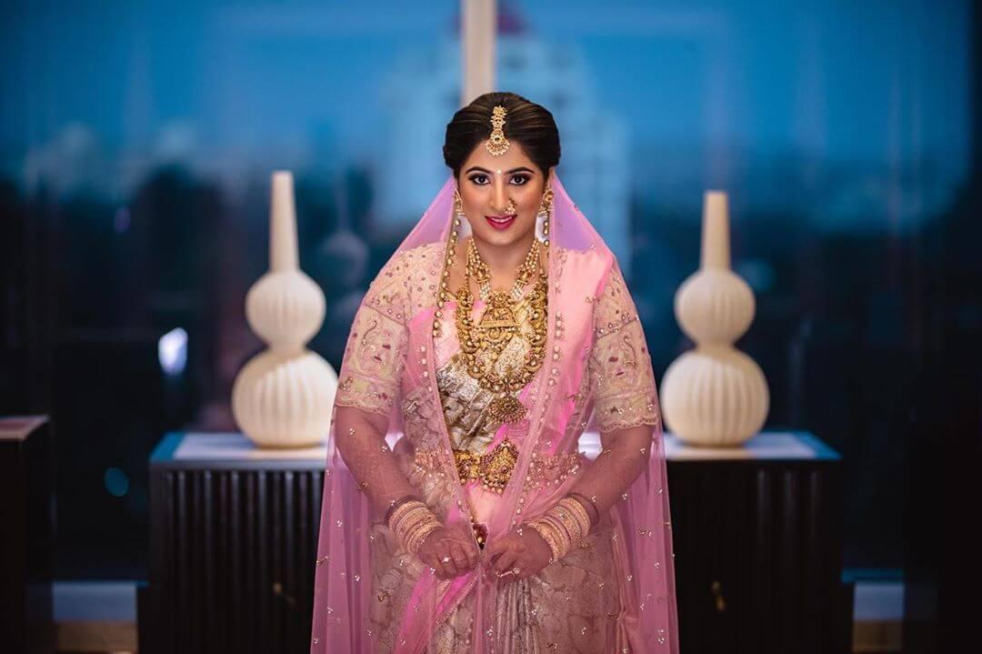bridal saree with veil