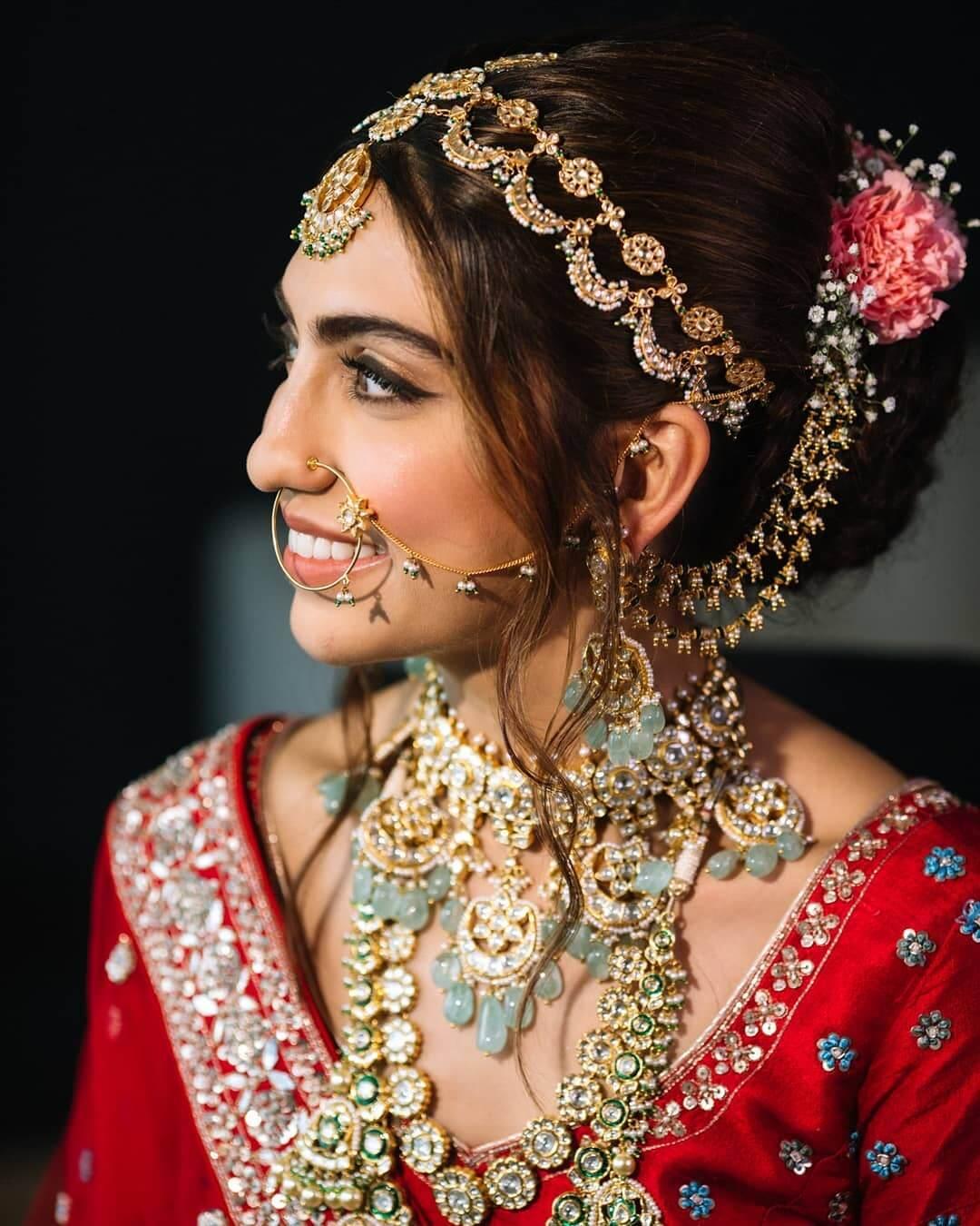 pastel bridal jewellery