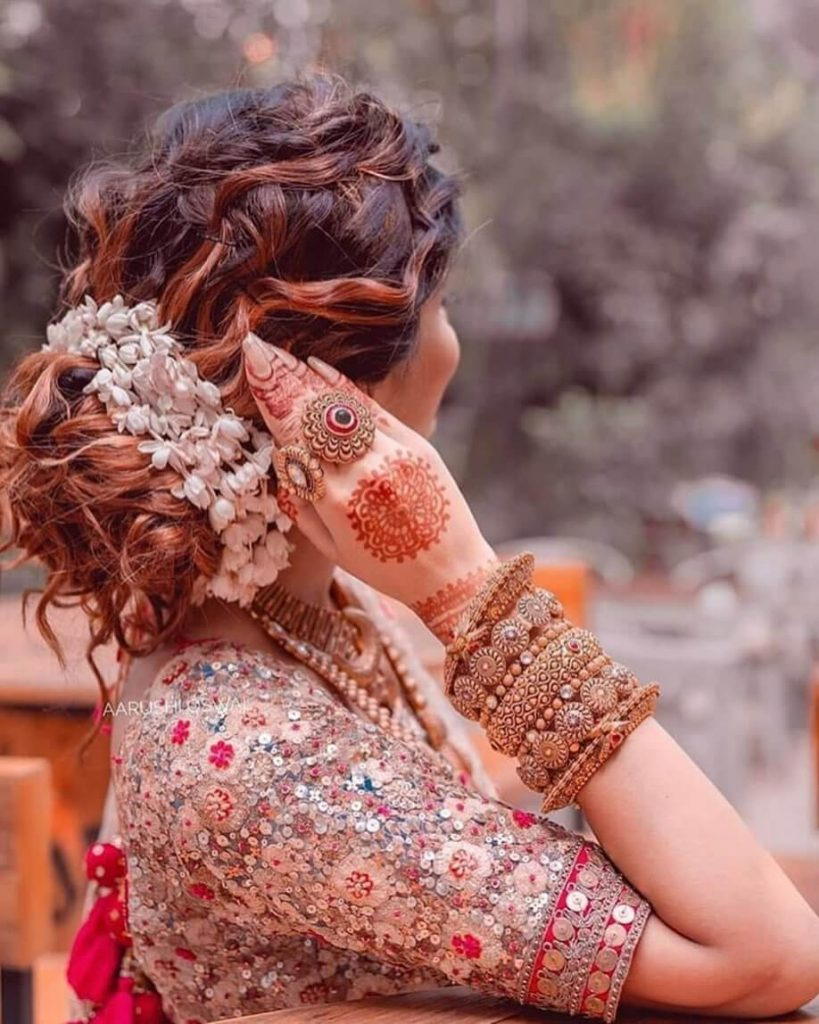 bridal gajra hairstyles