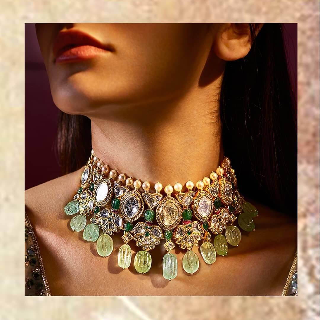 pastel bridal necklace