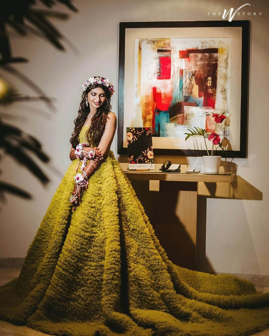vibrant mehendi dresses