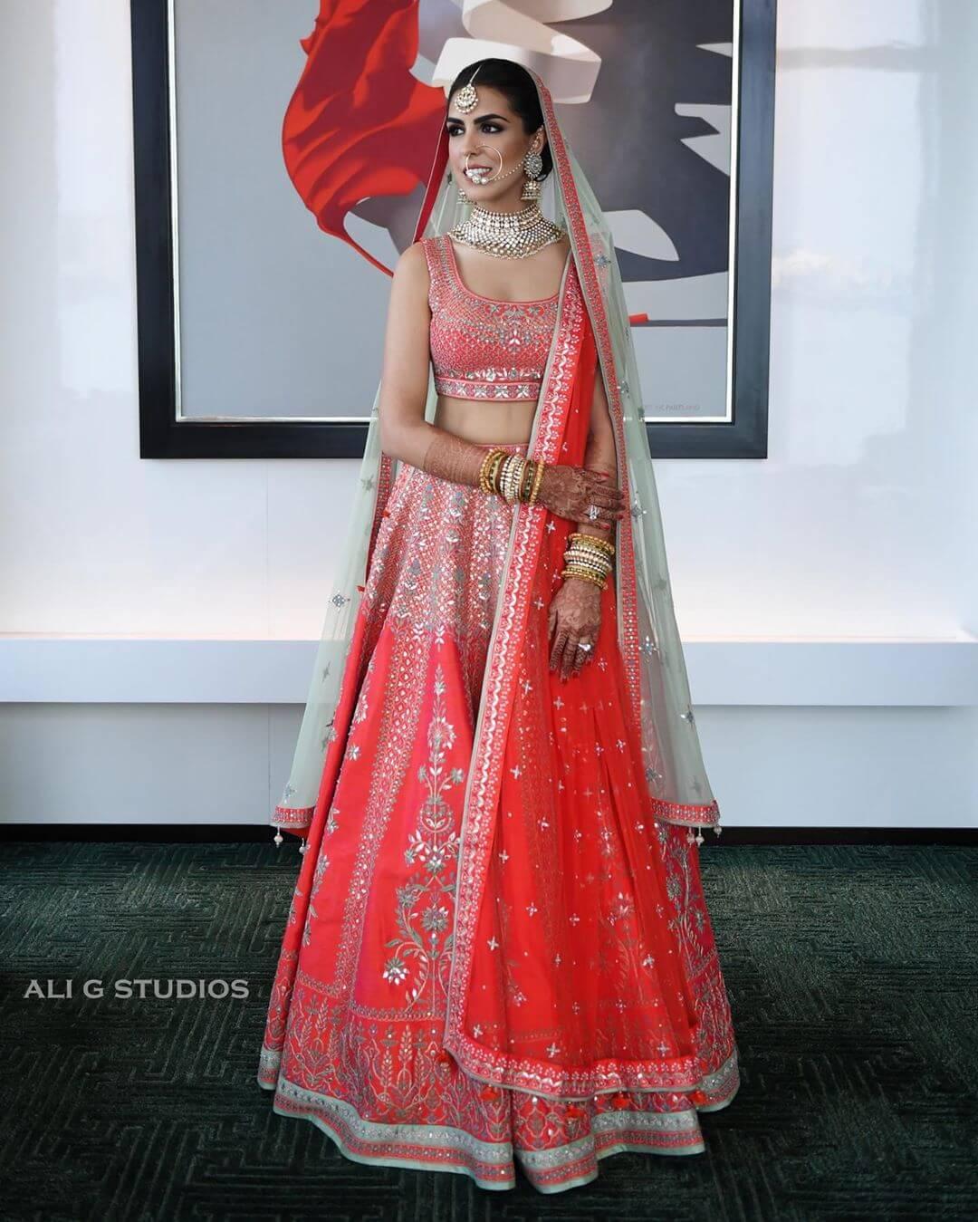 bridal lehenga in pink