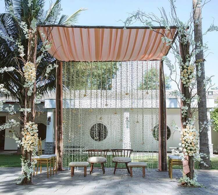 minimla wedding decor